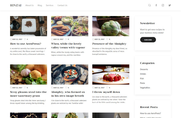 Free WordPress theme Rinzai - best theme for bloggers on WordPress.org