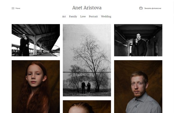 Minimalist WordPress theme for photographers, designers, illustrators
